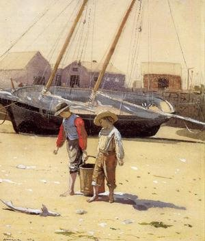 Reproduction oil paintings - Winslow Homer - A Basket of Clams