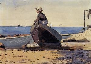 Famous paintings of Ships & Boats: Waiting for Dad