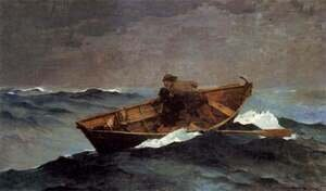 Famous paintings of Storms & Rough Water: Lost on the Grand Banks