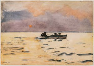 Famous paintings of Ships & Boats: Rowing Home