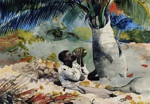 Famous paintings of Black Art: Under the Coco Palm