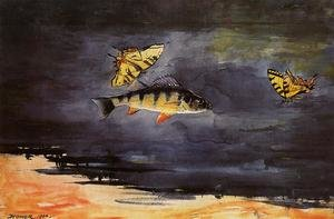 Famous paintings of Butterflies: Fish and Butterflies