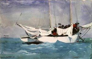 Famous paintings of Ships & Boats: Key West, Hauling Anchor