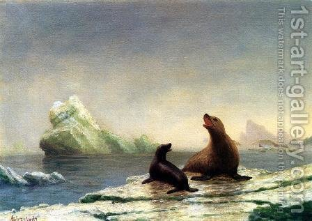 Seals by Albert Bierstadt - Reproduction Oil Painting