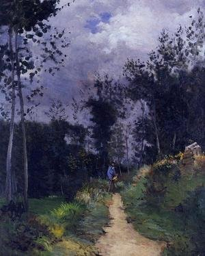 Reproduction oil paintings - Alfred Sisley - Rural Guardsman in the Fountainbleau Forest