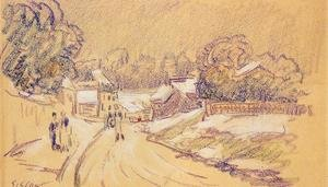 Reproduction oil paintings - Alfred Sisley - Early Snow at Louveciennes I