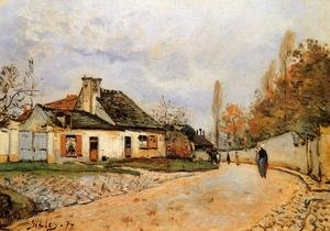 Reproduction oil paintings - Alfred Sisley - Neighborhood Street in Louveciennes