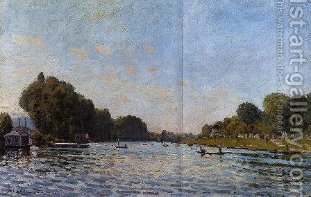 The Seine at Bougival by Alfred Sisley - Reproduction Oil Painting