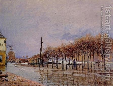 Flood at Port-Marly I by Alfred Sisley - Reproduction Oil Painting