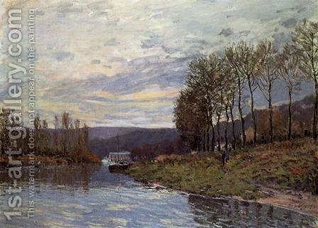 Seine at Bougival by Alfred Sisley - Reproduction Oil Painting