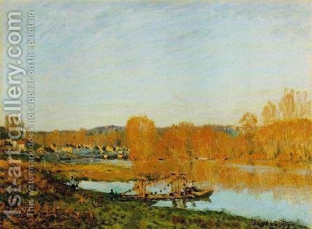 Autumn - Banks of the Seine near Bougival by Alfred Sisley - Reproduction Oil Painting