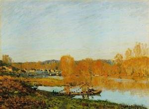 Reproduction oil paintings - Alfred Sisley - Autumn - Banks of the Seine near Bougival