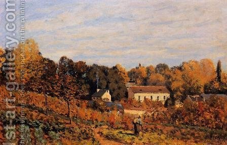 Kitchen Garden at Louveciennes by Alfred Sisley - Reproduction Oil Painting