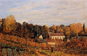 Reproduction oil paintings - Alfred Sisley - Kitchen Garden at Louveciennes