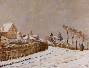 Reproduction oil paintings - Alfred Sisley - Snow at Louveciennes