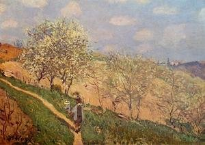 Reproduction oil paintings - Alfred Sisley - Spring in Bougival