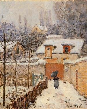 Reproduction oil paintings - Alfred Sisley - Snow at Louveciennes I