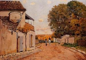 Reproduction oil paintings - Alfred Sisley - Street in Louveciennes (Rue de la Princesse)