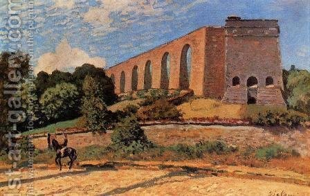 Aqueduct at Marly by Alfred Sisley - Reproduction Oil Painting