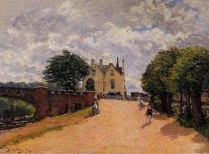 Reproduction oil paintings - Alfred Sisley - Inn at East Molesey with Hampton Court Bridge