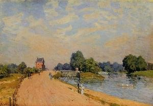 Reproduction oil paintings - Alfred Sisley - The Road from Hampton Court