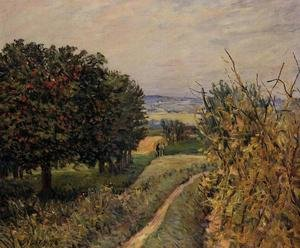 Reproduction oil paintings - Alfred Sisley - Among the Vines near Louveciennes