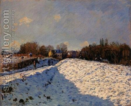 Alfred Sisley: The Effect of Snow at Argenteuil - reproduction oil painting