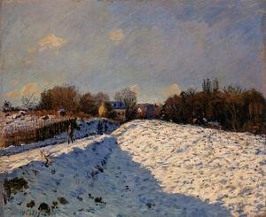 Reproduction oil paintings - Alfred Sisley - The Effect of Snow at Argenteuil