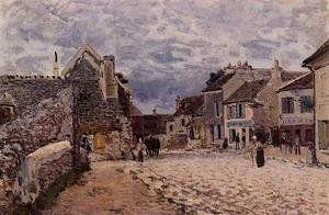 Reproduction oil paintings - Alfred Sisley - Village Street - Grey Weather