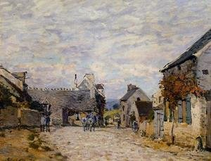 Reproduction oil paintings - Alfred Sisley - Village Street - Louveciennes