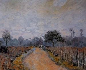 Reproduction oil paintings - Alfred Sisley - The Road from Prunay to Bougival