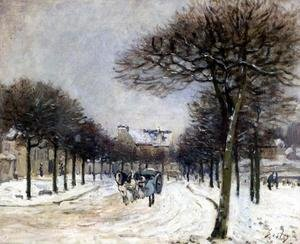 Reproduction oil paintings - Alfred Sisley - Road from Saint-Germain to Marly