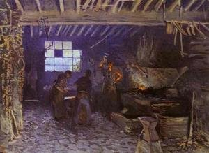 Reproduction oil paintings - Alfred Sisley - Forge at Marly-le-Roi