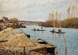 Reproduction oil paintings - Alfred Sisley - Sand Heaps