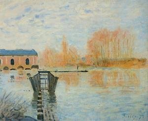 Reproduction oil paintings - Alfred Sisley - The Marly Machine and the Dam