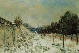 Reproduction oil paintings - Alfred Sisley - Snow at Marly-le-Roi