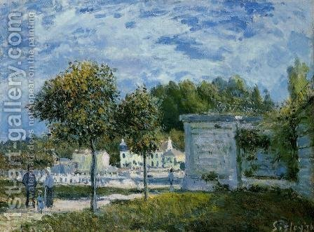 The Watering Place at Marly by Alfred Sisley - Reproduction Oil Painting