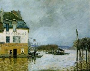 Famous paintings of Flood & High Tide: Flood at Port-Marly II 2