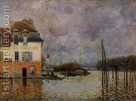 Flood at Port-Marly III by Alfred Sisley - Reproduction Oil Painting