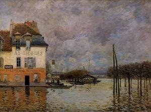 Famous paintings of Flood & High Tide: Flood at Port-Marly III