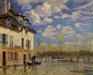 Famous paintings of Flood & High Tide: Flood at Port-Marly IV