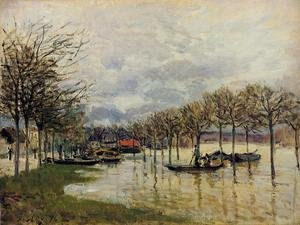 Famous paintings of Flood & High Tide: The Flood on the Road to Saint-Germain