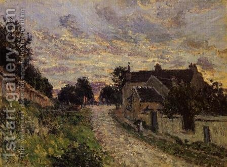 A Small Street in Louveciennes by Alfred Sisley - Reproduction Oil Painting