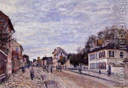 Street Scene in Marly by Alfred Sisley - Reproduction Oil Painting
