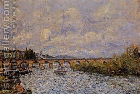 The Sevres Bridge I by Alfred Sisley - Reproduction Oil Painting
