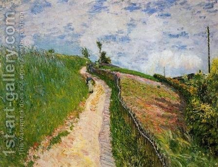 The Hill Path, Ville d'Avray by Alfred Sisley - Reproduction Oil Painting