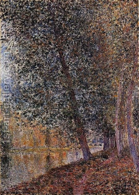 Banks of the Loing, Autumn by Alfred Sisley - Reproduction Oil Painting