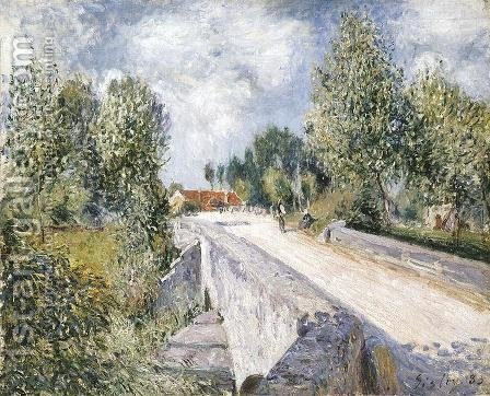 Bridge over the Orvanne near Moret by Alfred Sisley - Reproduction Oil Painting