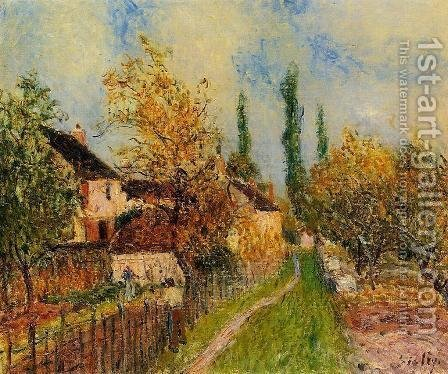 Path at Sablons by Alfred Sisley - Reproduction Oil Painting