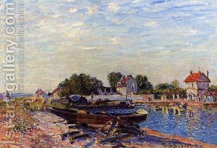 The Loing at Saint-Mammes by Alfred Sisley - Reproduction Oil Painting